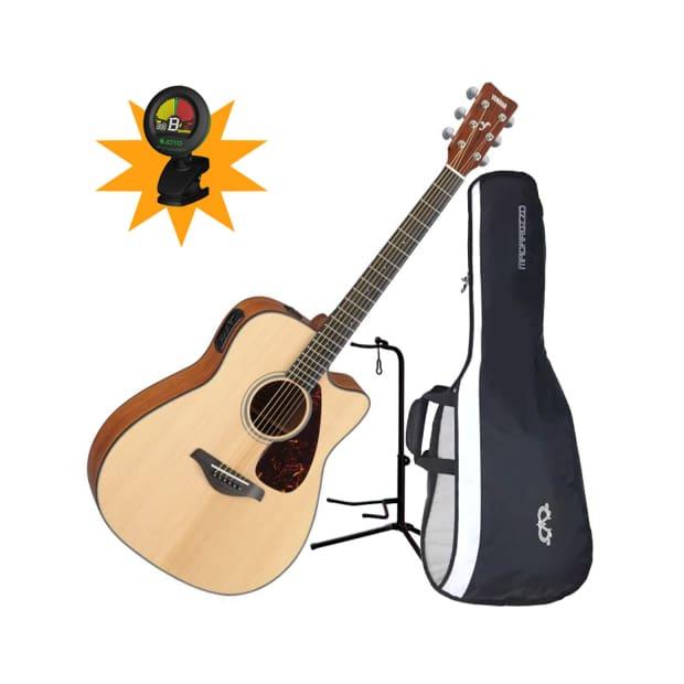 Yamaha Fgx700sc Folk Acoustic Electric Guitar Bundle Reverb