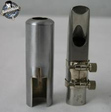 Berg Larson 100/0 Soprano Sax Mouth piece and cover (metal) image