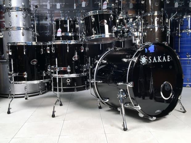Sakae almighty birch 5pc drum set 22 10 12 14 16 piano for 16x14 floor tom