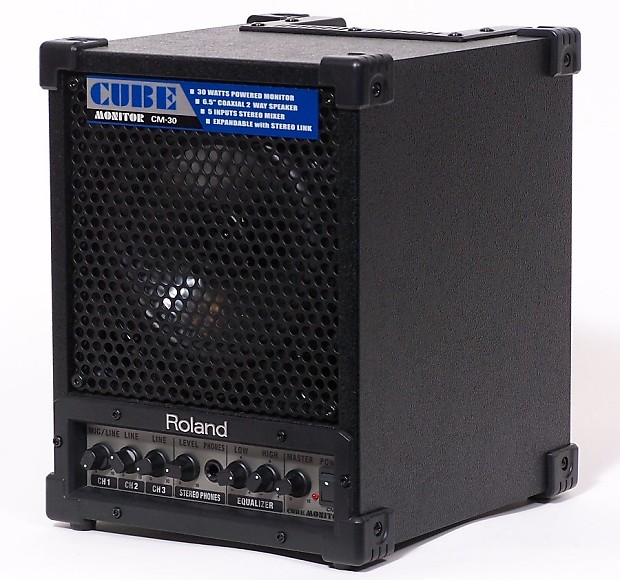 roland cm30 cube monitor in box high quality portable reverb. Black Bedroom Furniture Sets. Home Design Ideas