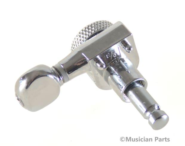 allparts 2 pin mount chrome 6 inline mini locking tuners 18 1 reverb. Black Bedroom Furniture Sets. Home Design Ideas