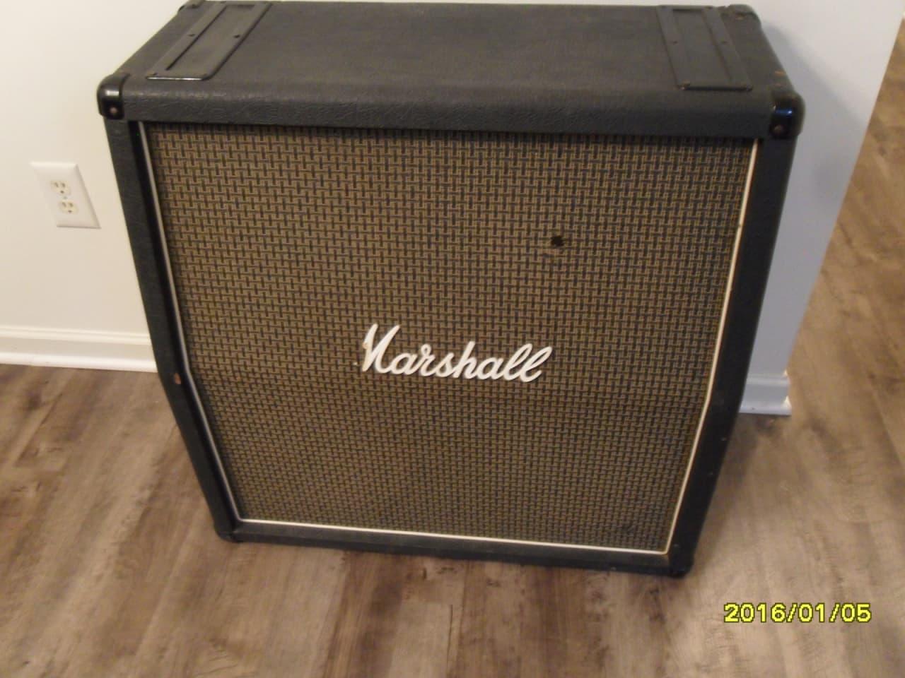 1976 vintage marshall 1960a 1982a empty 4x12 cabinet cab amp reverb. Black Bedroom Furniture Sets. Home Design Ideas