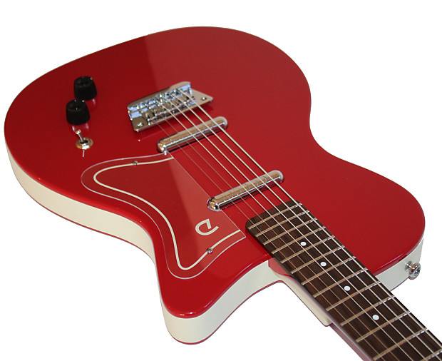 Danelectro '56 Baritone Electric Guitar in Red | Reverb