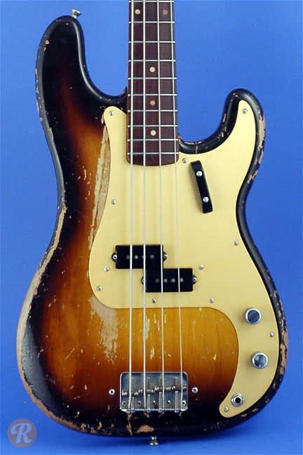 fender precision bass 1959 sunburst price guide reverb