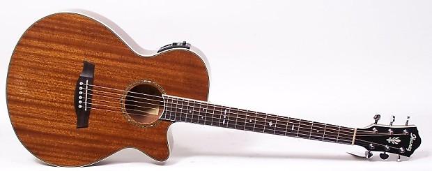 ibanez aeg12ii nmh mahogany acoustic electric guitar fishman reverb. Black Bedroom Furniture Sets. Home Design Ideas