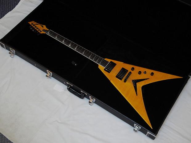 dean dave mustaine signature vmnt limited trans amber guitar reverb. Black Bedroom Furniture Sets. Home Design Ideas