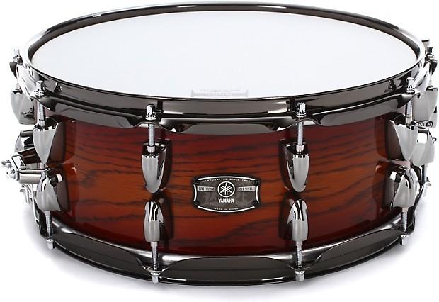 yamaha live custom snare drum 5 5 x14 amber shadow reverb. Black Bedroom Furniture Sets. Home Design Ideas