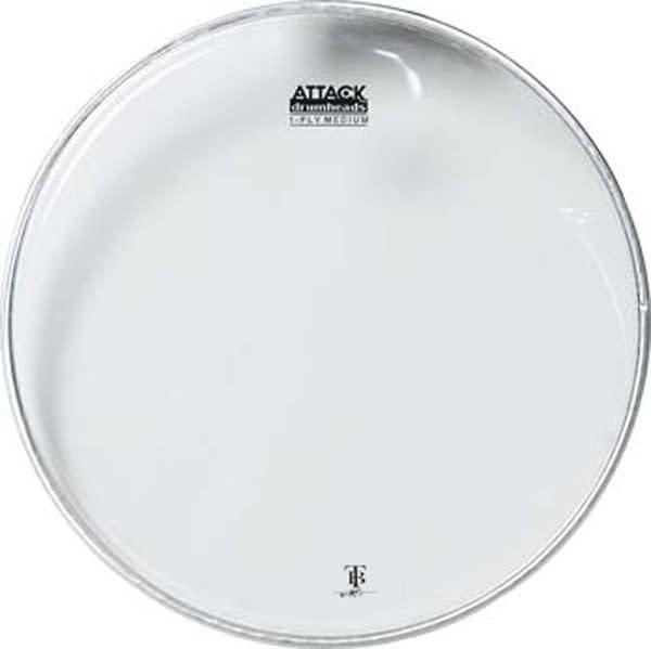 attack terry bozzio 20 1 ply medium clear drum head reverb. Black Bedroom Furniture Sets. Home Design Ideas