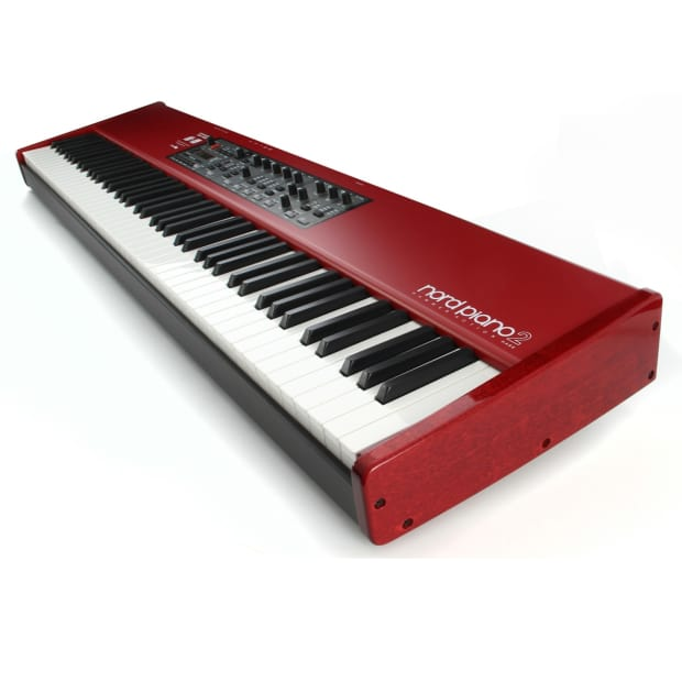 nord piano 2 ha88 red 88 key digital stage piano with triple reverb. Black Bedroom Furniture Sets. Home Design Ideas