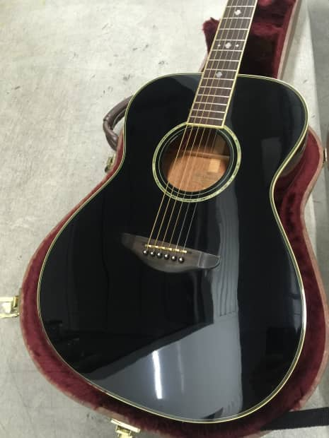 Woods Auto Sales >> Rare Yamaha LS-400 BL Black Acoustic Guitar MIJ w RMC Pickup | Reverb