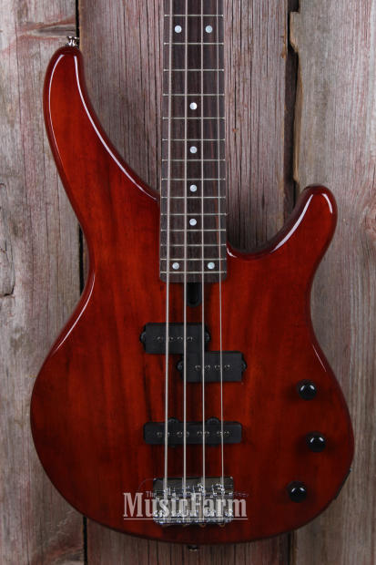 yamaha trbx174ew rtb exotic mango wood top 4 string