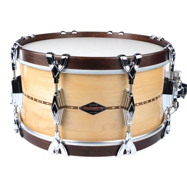 craviotto 7x14 super swing series maple snare drum w wood reverb. Black Bedroom Furniture Sets. Home Design Ideas