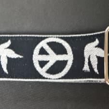 """New! Souldier Strap """"Neil Young Peace Dove"""" Handmade Guitar Strap Free Shipping image"""