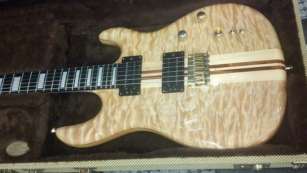 Carvin dc quilt top natural quilted maple reverb