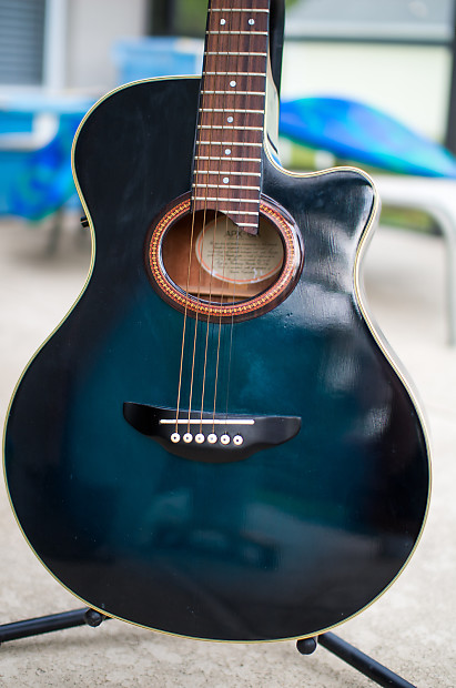 yamaha apx 6a acoustic electric transparent blue burst