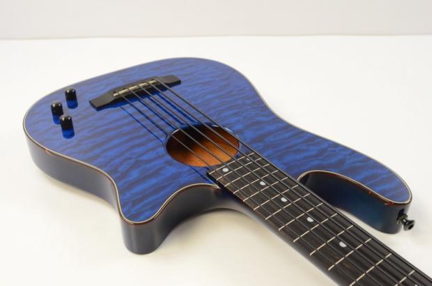 carvin ac 50 5 string fretless acoustic electric bass guitar transparent blue w ohsc reverb. Black Bedroom Furniture Sets. Home Design Ideas