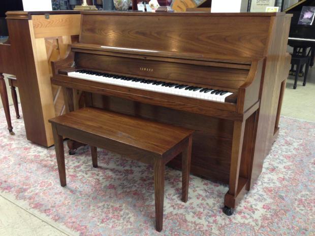 Yamaha p22 studio piano 1983 oak reverb for Yamaha p22 upright piano