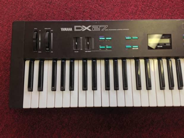 Vintage yamaha dx27 fm synthesizer electronic keyboard for Yamaha keyboard synthesizer