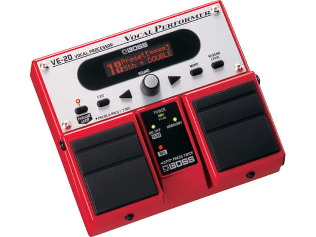 boss ve 20 ve20 vocal processor effects pedal reverb. Black Bedroom Furniture Sets. Home Design Ideas
