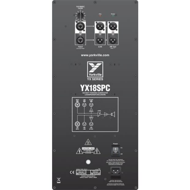 Progressive Auto Insurance Payment >> Yorkville YX18SPC 500W Powered Subwoofer - New in Box | Reverb