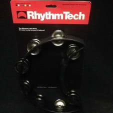 RhythmTech RT1010 Tambourine, Nickel Jingles, Black image