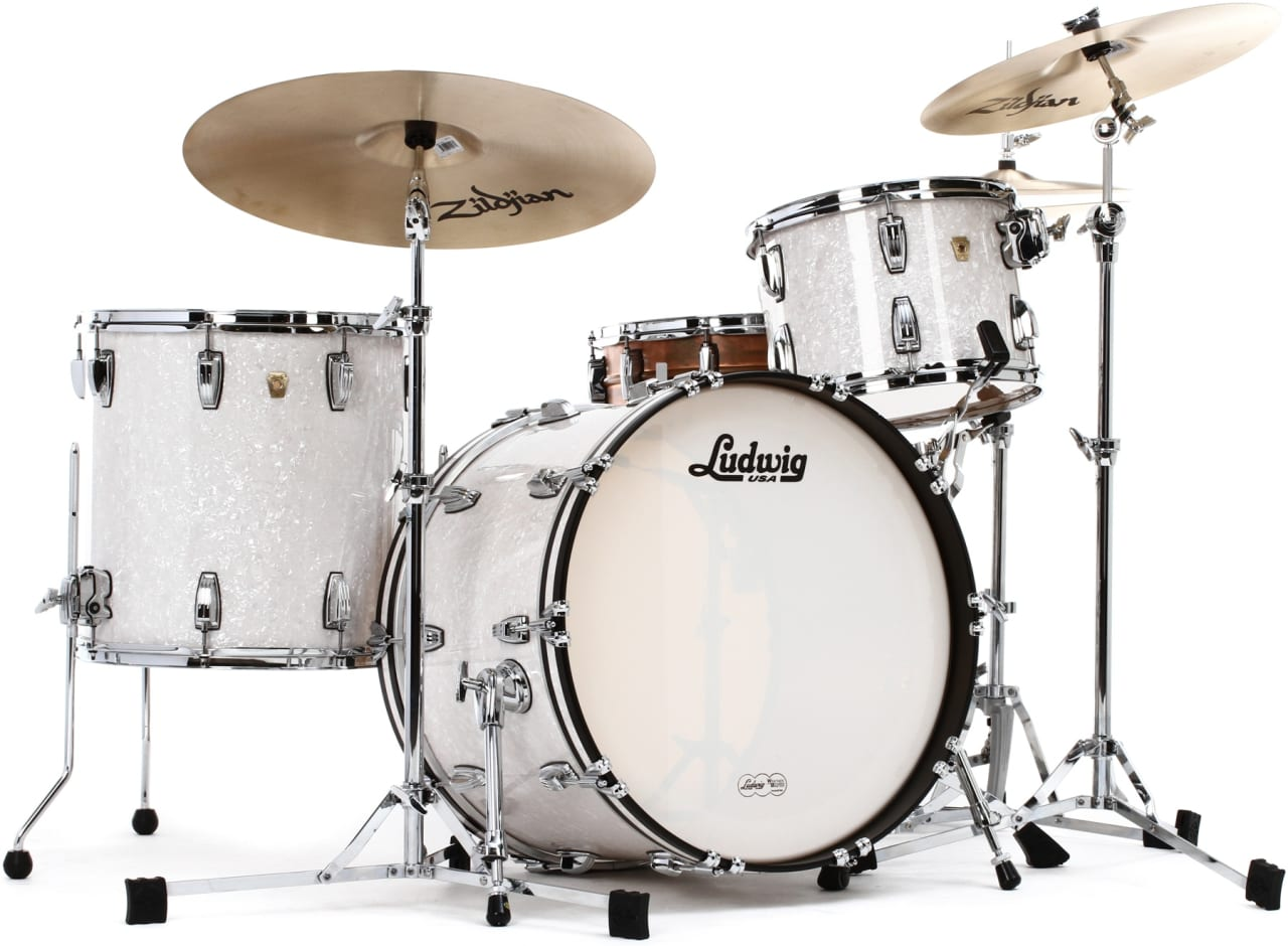 Ludwig classic maple l8323ax0pwc white marine pearl 22 16 for Classic house drums