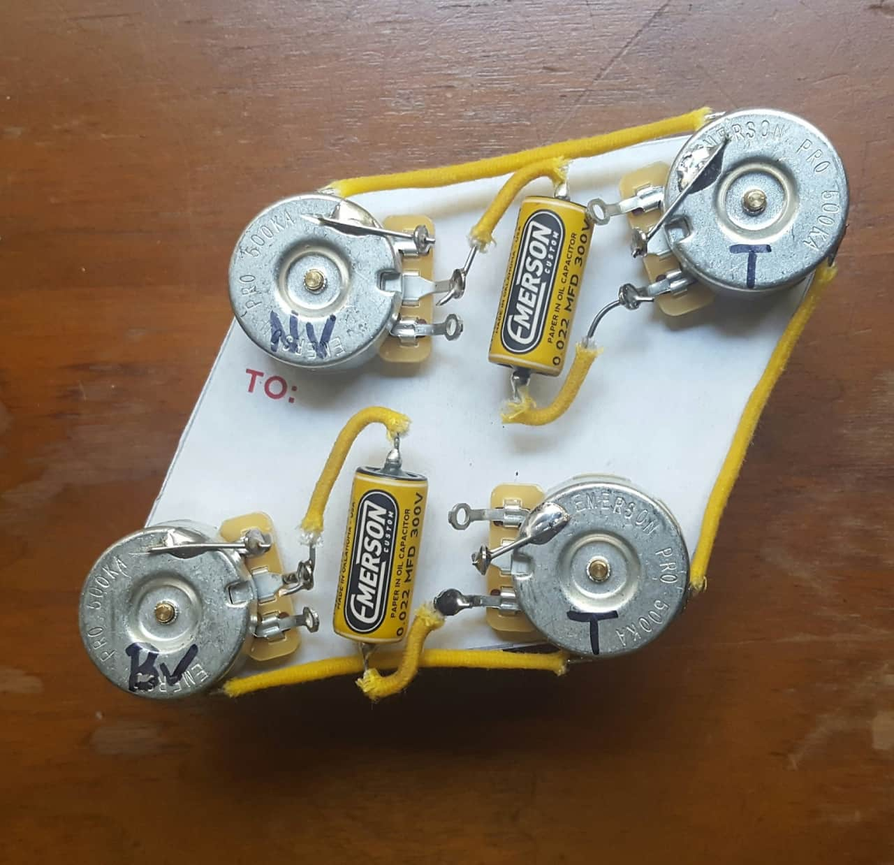 similiar emerson electric guitar fender amp keywords vintage taper les paul wiring harness emerson pro pots reverb