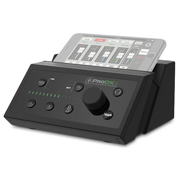 mackie prodx4 4 channel wireless digital mixer reverb. Black Bedroom Furniture Sets. Home Design Ideas