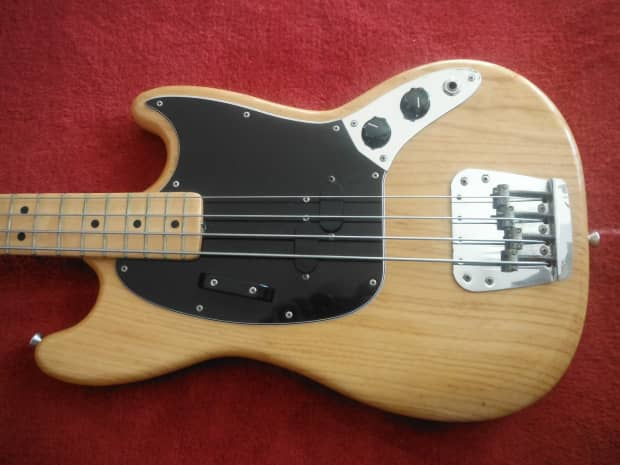Red White And Blue Auto Sales >> Fender Mustang Bass 1977 Natural | Reverb