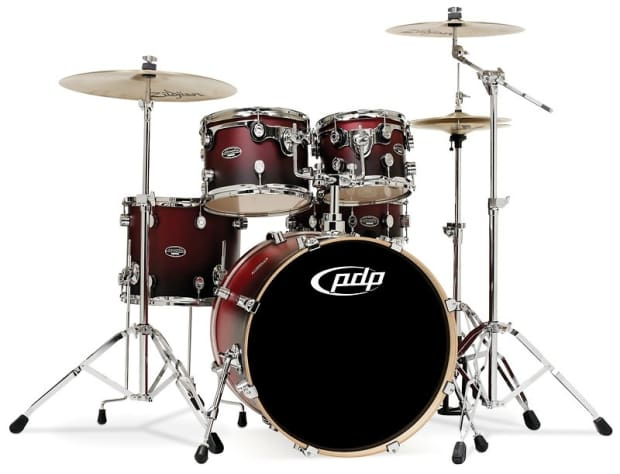 Pdp Fs Series Birch Cherry To Black Fade Drum Shell Pack
