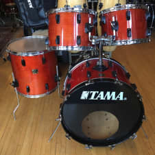 Vintage Tama 4pc Superstar Shell Pack 1980s Super Mahogany image