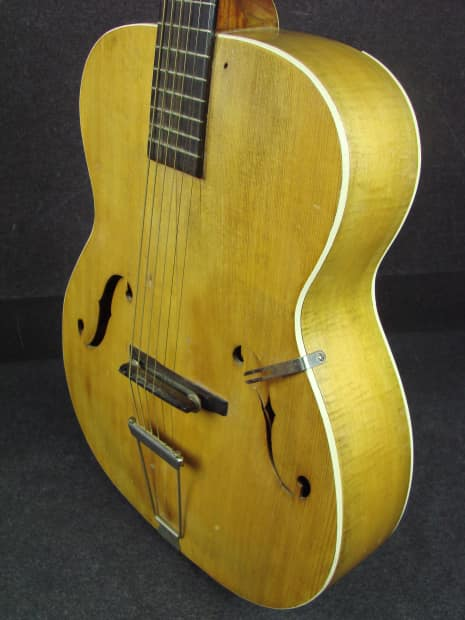 Vintage 1930s Washburn Model 5258 Flame Maple Archtop Reverb