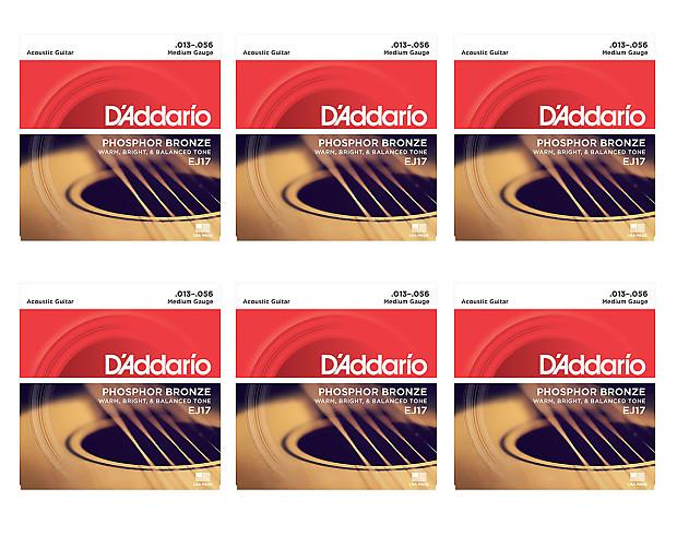 d 39 addario ej17 medium phosphor bronze acoustic guitar strings reverb. Black Bedroom Furniture Sets. Home Design Ideas