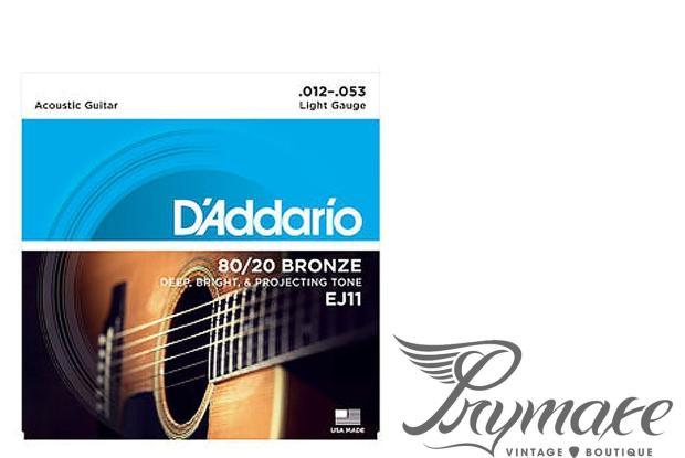 Acoustic Guitar Strings Light Gauge : d 39 addario ej11 80 20 bronze acoustic guitar strings light gauge 12 53 reverb ~ Vivirlamusica.com Haus und Dekorationen