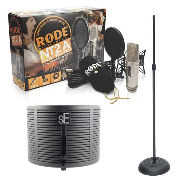 how to put rode nt1 on mic stand