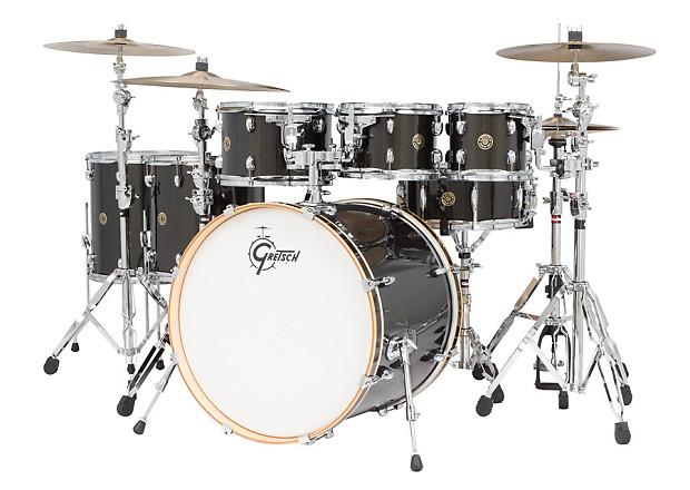 gretsch catalina maple 7 piece drum kit with hardware black reverb. Black Bedroom Furniture Sets. Home Design Ideas