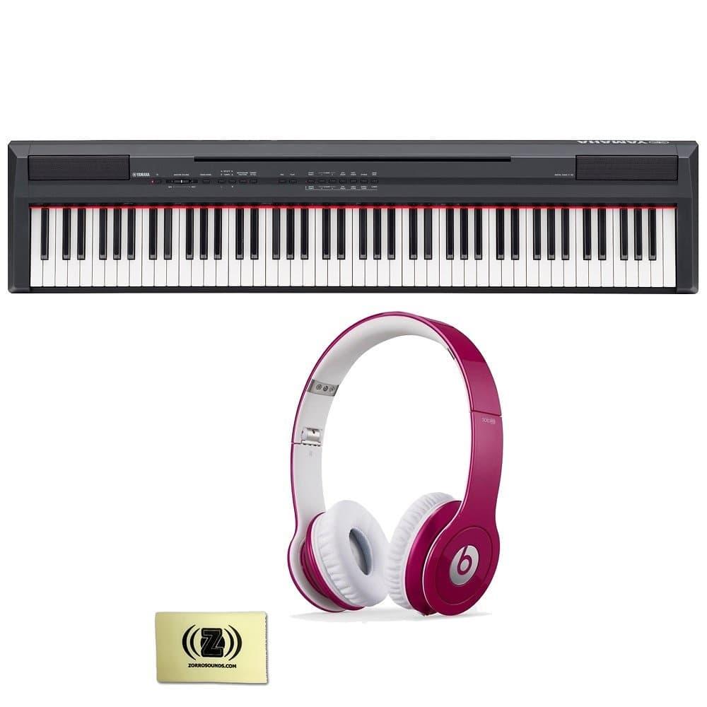 Yamaha p series p 105 88 key digital piano bundle with for Yamaha p105 digital piano bundle