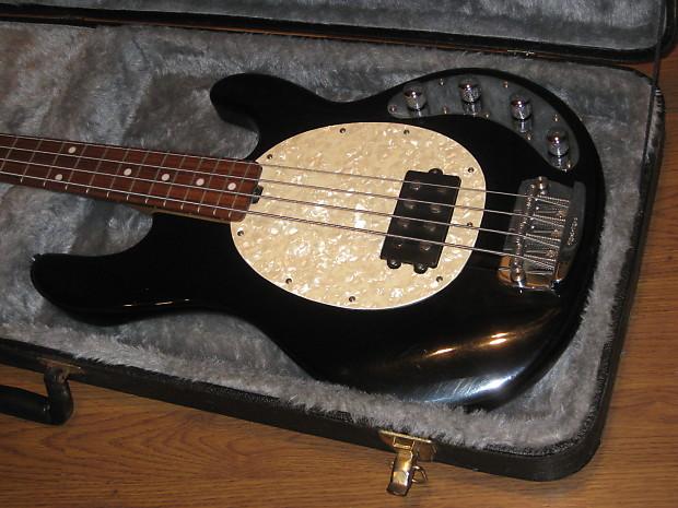 ernie ball musicman stingray bass black with hipshot d tuner reverb. Black Bedroom Furniture Sets. Home Design Ideas