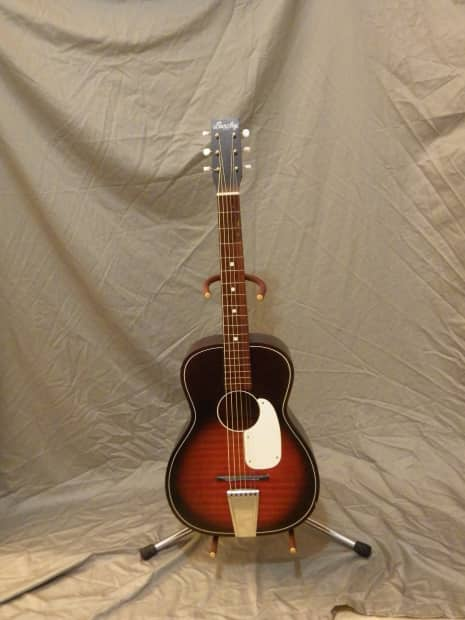 Action Auto Sales >> Barclay Stella-Style Parlor Guitar (Red Burst, pre-1954) | Reverb