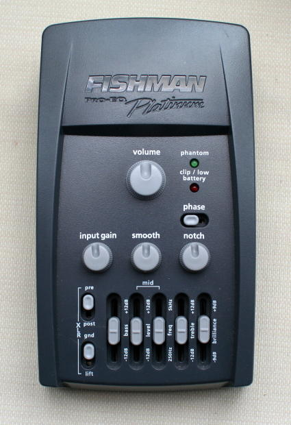 fishman pro eq platinum eq di preamp used reverb. Black Bedroom Furniture Sets. Home Design Ideas