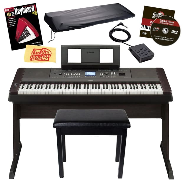 Yamaha dgx 660 digital piano bundle w stand bench cover for Yamaha digital piano dealers