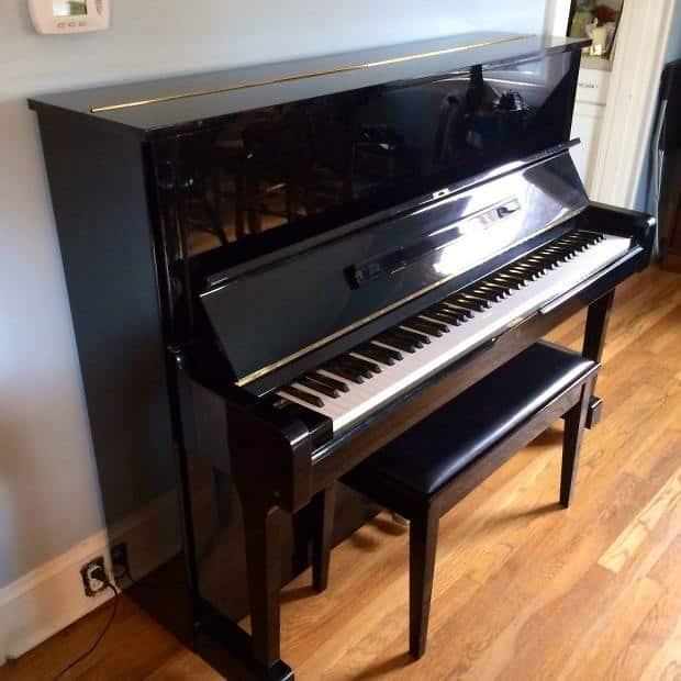 Yamaha u1 upright grand piano 1980 black original vintage for Yamaha u2 piano