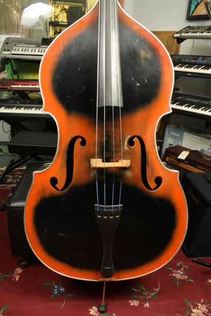 1939 kay bass viol m 1 maestro 4 4 size acoustic upright reverb. Black Bedroom Furniture Sets. Home Design Ideas