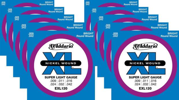daddario exl120 10p super light electric guitar strings 10 reverb. Black Bedroom Furniture Sets. Home Design Ideas