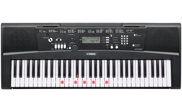 yamaha ez220 61 key portable keyboard 3 piece bundle reverb. Black Bedroom Furniture Sets. Home Design Ideas