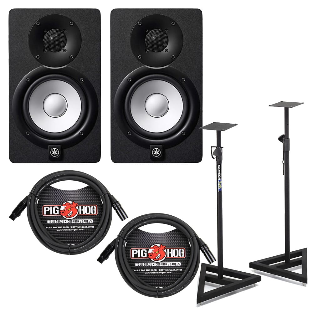 Yamaha hs8 2 way powered recording studio monitor pair in for Yamaha hs8 price