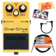 Boss OD-3 OverDrive Guitar Effects Pedal w/ Cables image