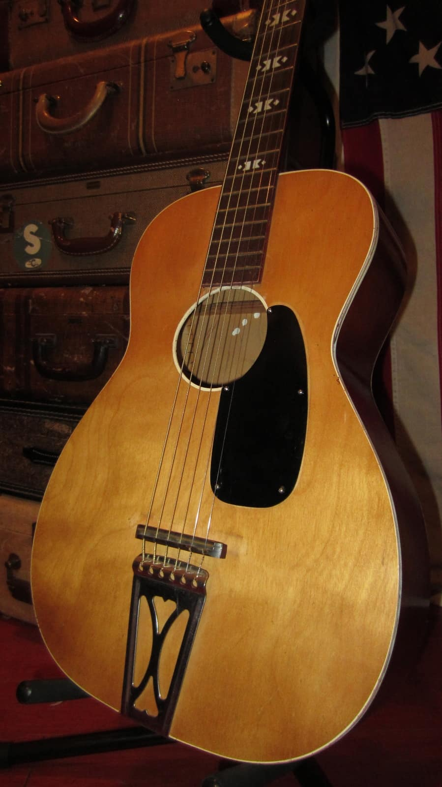 harmony stella acoustic guitar 1960 39 s natural reverb. Black Bedroom Furniture Sets. Home Design Ideas