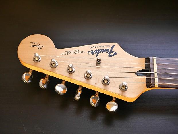 Fender Mim Stratocaster 1994 White Squier Series Strat