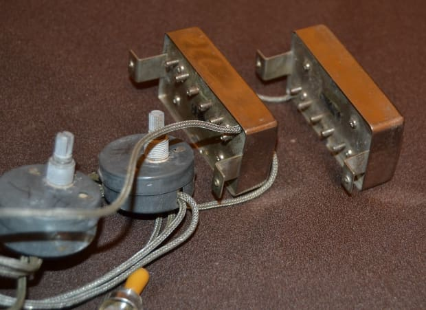 gibson gibson paf pickups  pots  switch  jack  wiring